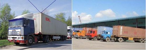 Relayer on Container Trucks